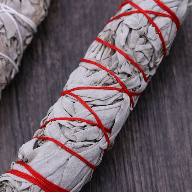 American California White Sage Smudging Wands Sticks Sage Smudge Stick For Cleansing Burning (32g Heavy Small Bundle) 2