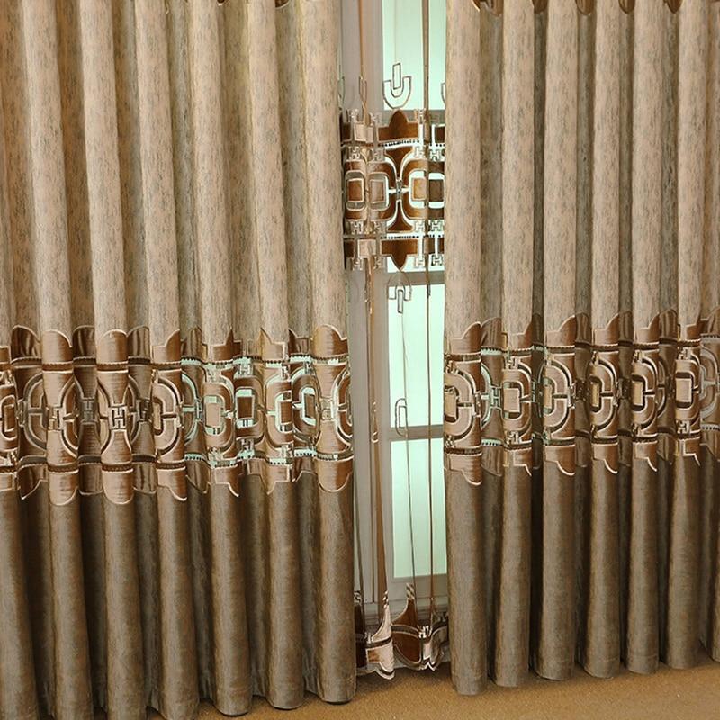 Вышитые шторы в китайском стиле, ткань для спальни, гостиной, виллы, занавеска до пола, тюль для кухни|Занавеска|   | АлиЭкспресс