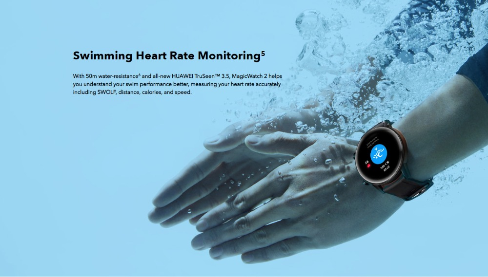 Huawei Honor MagicWatch 2 42mm Hebe Bluethooth Smart Watch 1.2AMOLED Always-on Display 14 Sports Modes 5ATM GPS Wireless Music 9