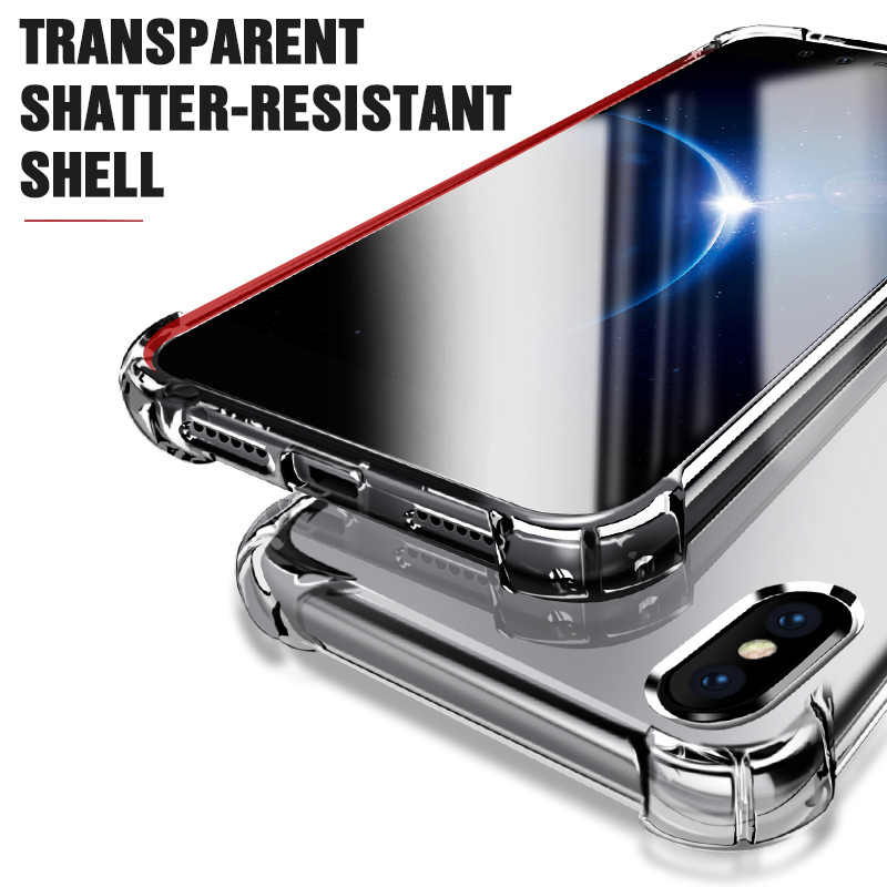 Funda para iphone x XS Max XR 6 6S 7 8 Plus funda protectora transparente para iphone 11 pro Max