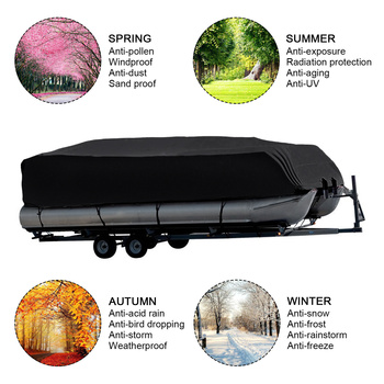 цена на 14-24ft For Universals Heavy Boat Covers 201D Waterproof Dustproof Trailerable Pontoon Boat Cover Coat Protect Rain UV  D45