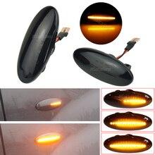 Dynamic Auto LED Side Marker Turn Signal Light Clear For Nissan Qashqai J10 X trail T31 Cube Juke Leaf Micra Micra K13 Note E11