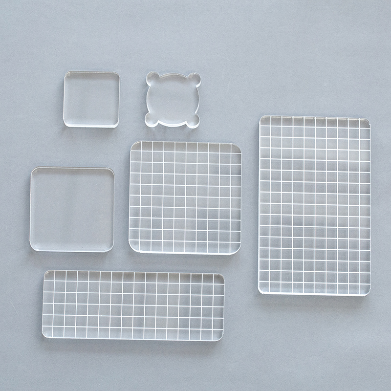 1pc Crystal Acrylic Stamp Transparent Seal  Creat Friend Gift Accessories  High Quality Plexiglass School Supplies  DIY