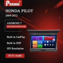 Dvd do carro de android para honda pilot (2009-2012) rádio do carro reprodutor de vídeo multimídia navegação gps android 10.0 duplo ruído