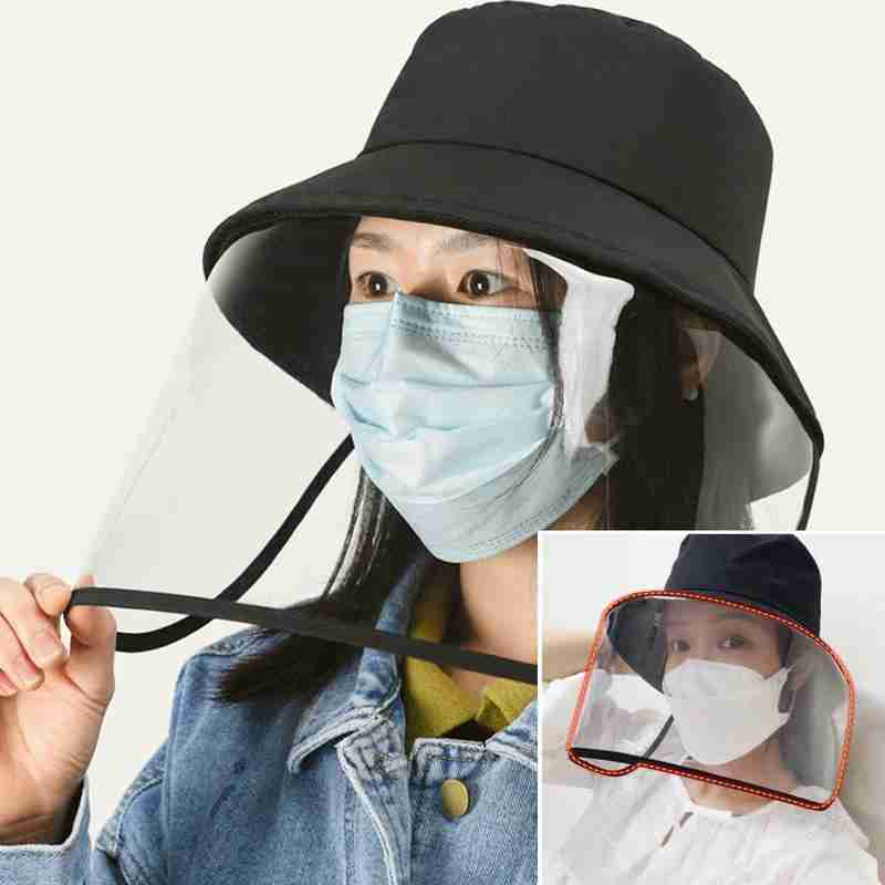 New Fashion Protective Cap Female Big Eaves Anti-fog Isolation Mask Outdoor Adjustable Fisherman's Hat