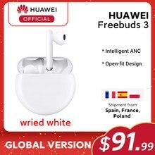 En stock Original HUAWEI freebud 3 FreeBuds3 Bluetooth écouteur TWS sans fil écouteur Kirin A1 puce ANC fonction originale