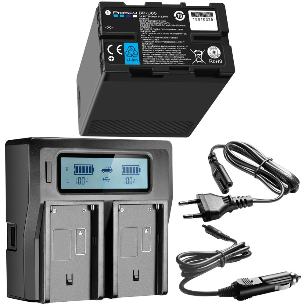 7800mAh BP-U65 BP-U90 BP-U30 BP-U60 U90 Batterie avec d-tap Fonction + LCD Double Chargeur USB pour Sony PMW-150 PMW-EX1 EX3 EX280