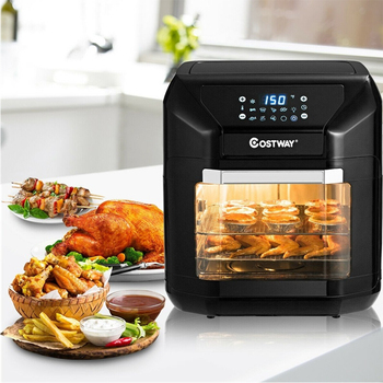 10.6 QT Kitchen Appliances Electric Air Fryer Oven 7 In 1 Rotisserie Dehydrator EP23965 1