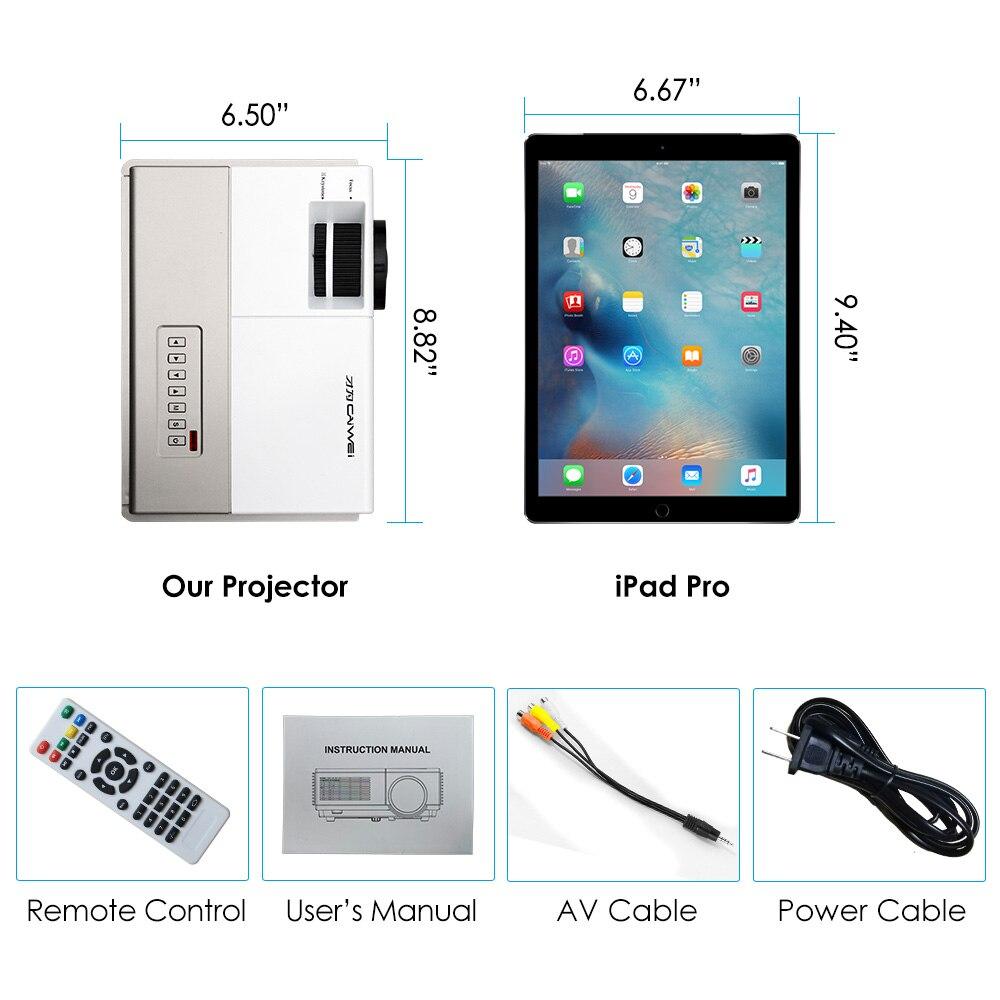 CAIWEI A3 LED Mini projecteur sans fil Bluetooth HDMI cinéma maison Portable intelligent Android WiFi projecteur multimédia film en plein air - 5