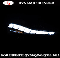Dynamic Turn Signal Light For Infiniti Q30 Q50 Q60 Q70 QX50 QX60 QX70 Parking Puddle LED Side Mirror Sequential Indicator Lamp