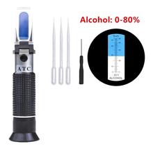 Handheld 0-80 refraktometr alkoholowy do alkoholi domowy refraktometr do warzenia alkoholu detektor stężenia alkoholu tanie i dobre opinie Barry Century Hydraulika NONE CN (pochodzenie) HT118