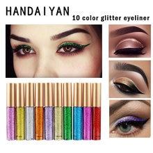 Handaiyan Новый жидкие тени для век блестящие ручка Водонепроницаемый