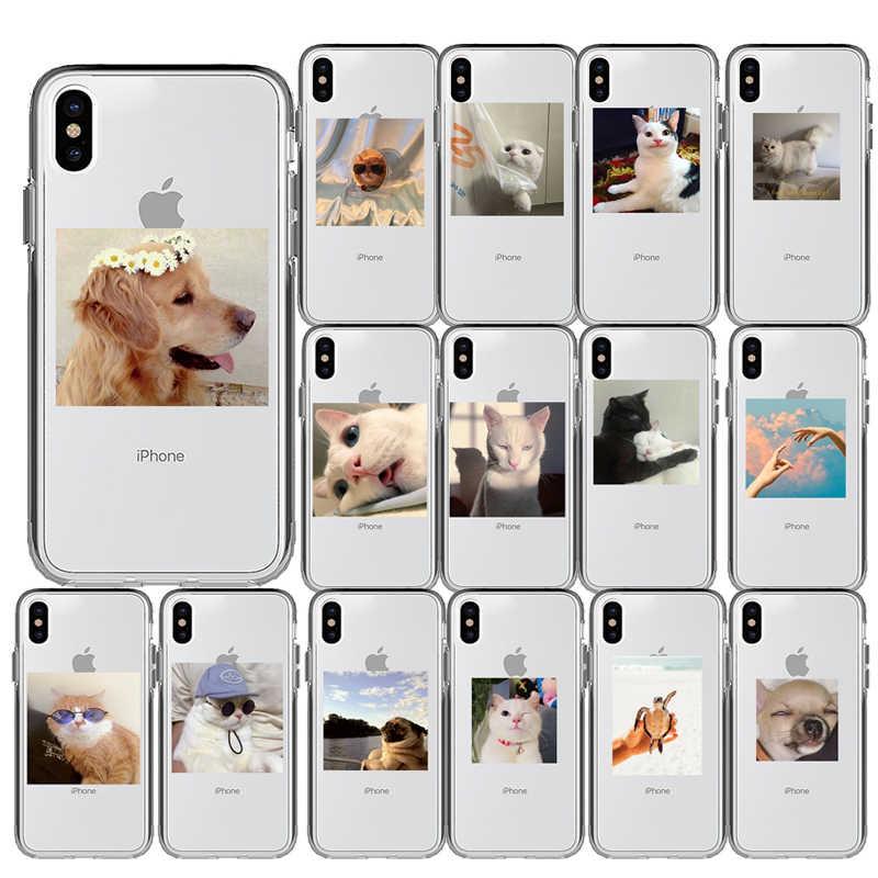 Mewah Kucing Super Cute Kartun Anjing Berwarna Merah Muda Jantung-Berbentuk Silikon Penutup Ponsel Case untuk I Phone 11 Pro Max X 5 5S 6 6S 7 7 Plus XR X Max