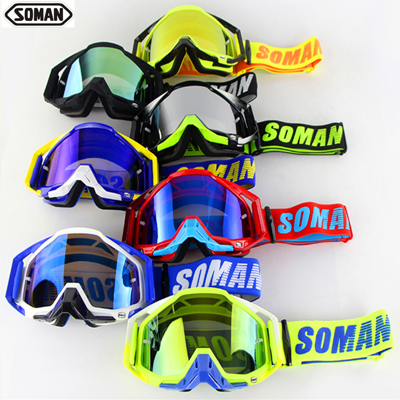 SM11 <font><b>Motocross</b></font> Motorrad Brille UV CUT ATV Gafas Off Road Dirt Bike Lunettes Staubdicht Racing Gläser Anti Wind <font><b>Brillen</b></font> Glas image