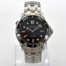 luxury Bliger 41mm mechanical watch men waterproof black dial date bright cerami