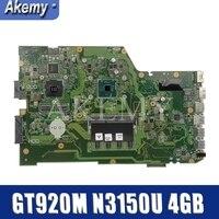 AKEMY X751SJ ASUS X751S X751SJ X751SV A751S K751S 함께 GT920M N3150U 4GB RAM 노트북 마더 보드