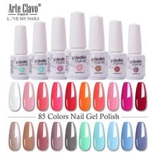 Arte Clavo esmalte de uñas en Gel híbrido, laca para uñas en Gel híbrido de 8ml, LED UV base para uñas, rojo, rosa, purpurina, maquillaje de uñas