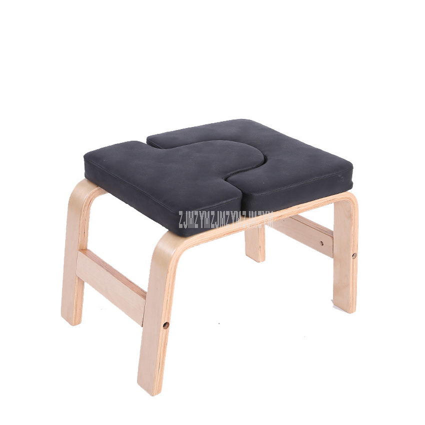 Wood Wooden Yoga Inverted Handstand Bench Yoga Assistance Auxiliary Training Handstand Chair Home Household Mini Fitness Bench