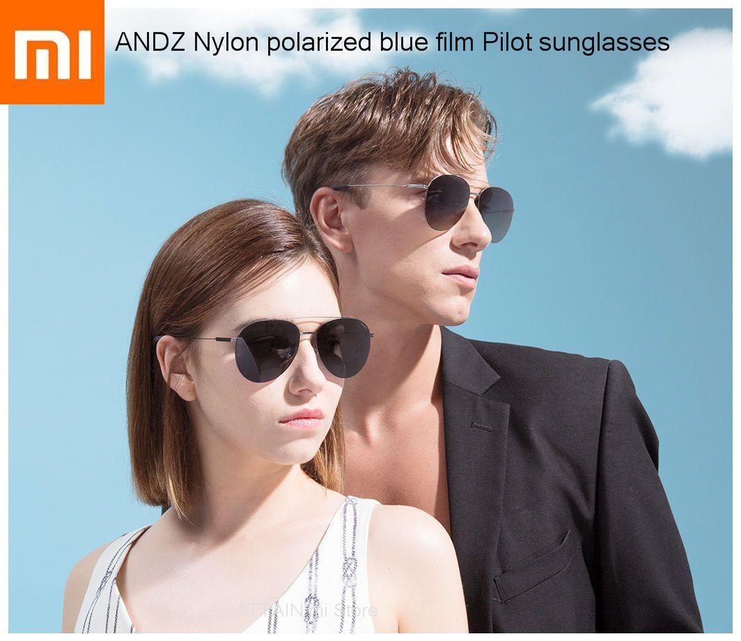 2019New xiaomi mijia ANDZ Nylon polarized blue film Pilot sunglasses xiomi Aviator glasses Sun Mirror UVA/UVB for Outdoor Travel