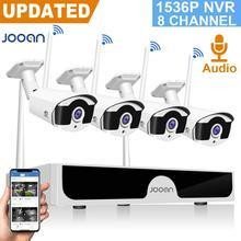 كاميرا أمان لاسلكية 8CH CCTV NVR مجموعة 3MP في الهواء الطلق نظام مراقبة الفيديو الصوت كاميرا مراقبة للمنزل مجموعة