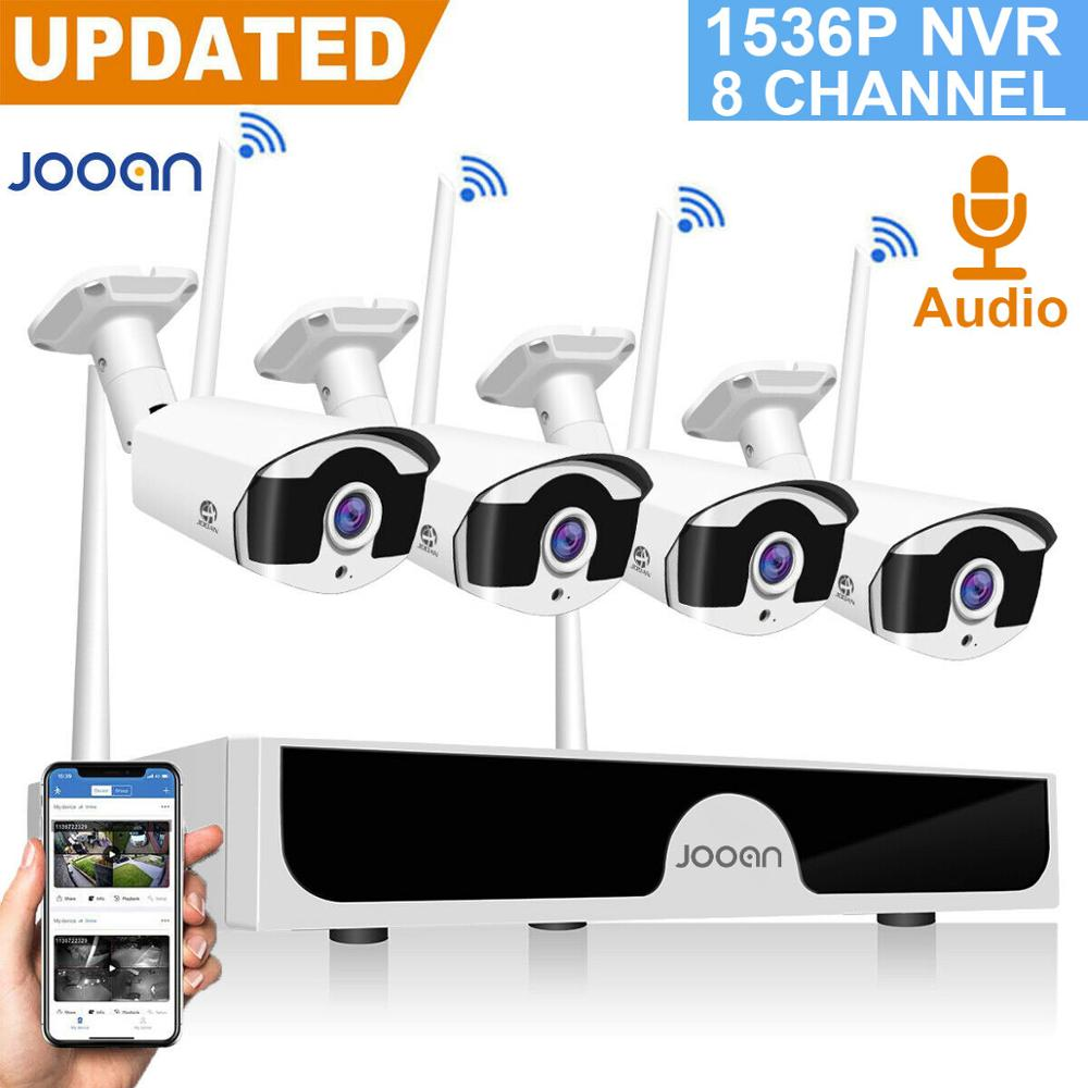 Wireless Security Camera 8CH CCTV NVR Set 3MP Outdoor Audio Video Surveillance  Systerm Home Security Camera Set