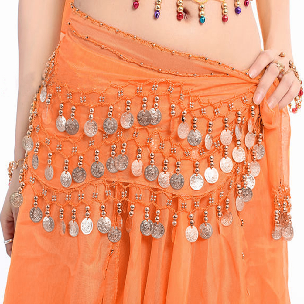 Women Sexy 3 Rows Belly Dance Hip Scarf Wrap Belt Belly Dancer Skirt Costume Chiffon Dancer Skirt Women 13 Types For Choose