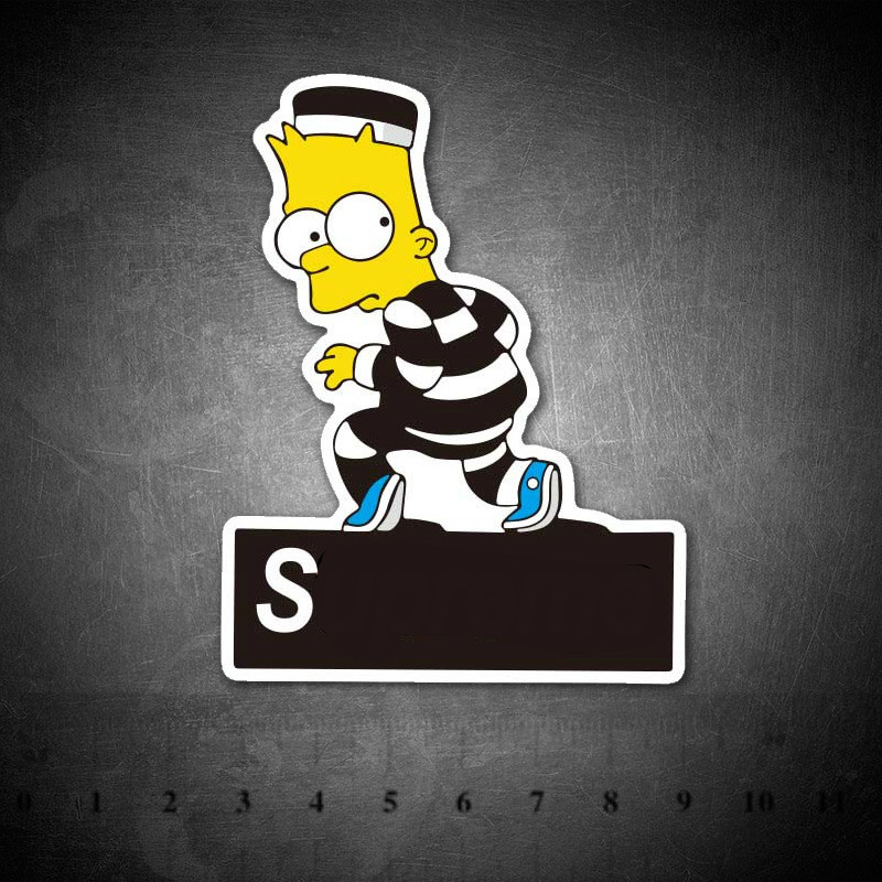 Cartoon Funny Simpson Stickers For Kids DIY Creative Graffiti Skateboard Luggage Laptop Guitar Fridge Car Doodle Decal