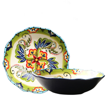 Creative hand-painted super large bowl soup basin European-style water-boiled fish dishes big household ceramics
