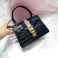 Fashion Brand Women Bag Crocodile Pattern Genuine Leather Shoulder Bag Ladies Crossbody Messenger Bag Luxury Women Bags Designer