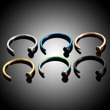 Novo falso nariz piercing falso nariz anel aro septo anéis de aço cirúrgico colorido falso piercing nariz piercings jóias 20g