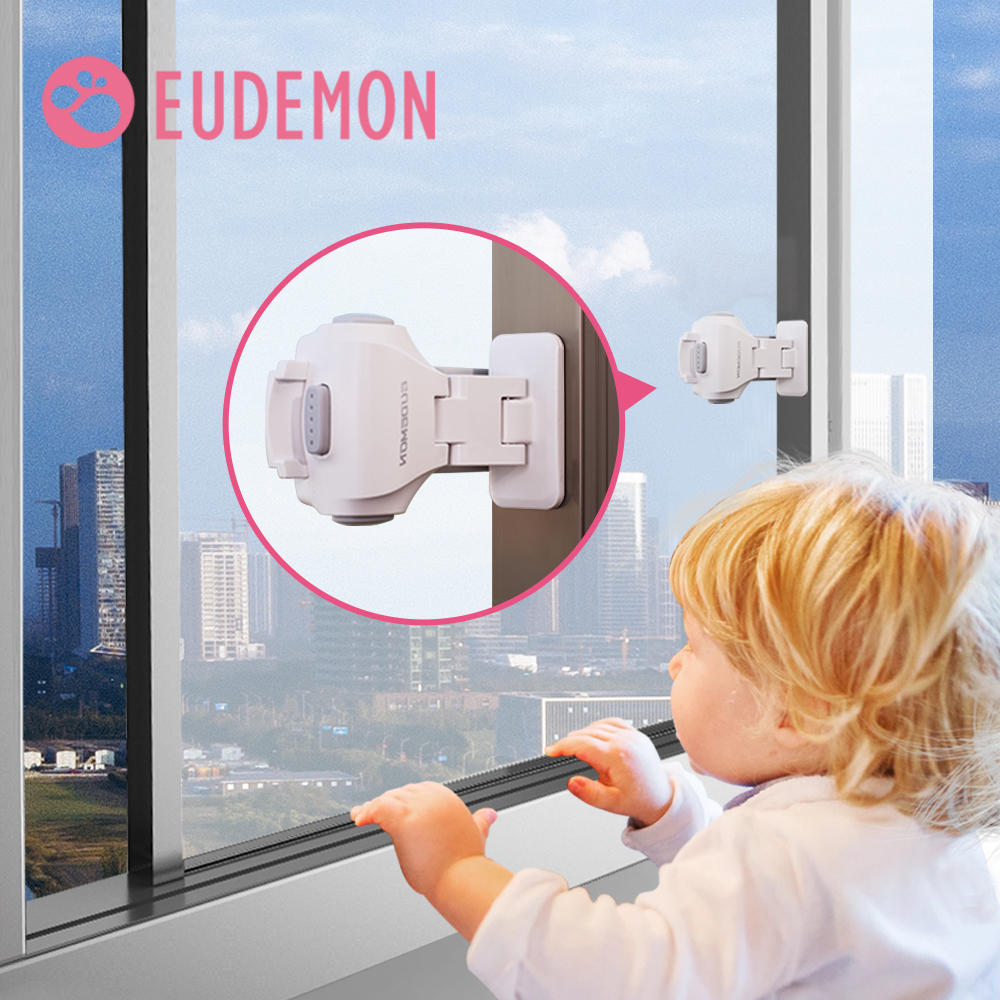 EUDEMON Protecting Baby Safety Security Window Lock Child Safety Lock Window Stopper For Children Protection On Windows