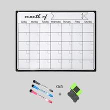 A3 Wöchentlich Planer Magnetische Whiteboard Kühlschrank Magneten Aufkleber Zeichnung Nachricht Erinnern Pad Memo Boards Weiß Bulltin Bord