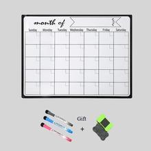Planificador semanal A3, pizarra blanca magnética, imanes para nevera, pegatinas para dibujar mensajes, recordatorios, tableros de notas, pizarra blanca