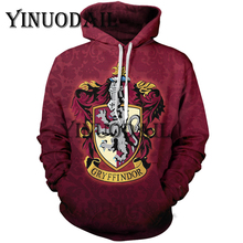 Fans Wear Gryffindor 3D Printed Hoodie with Pocket Hogwarts for Adult Unisex Sweatshirt Cosplay Costume