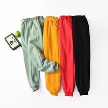 Pants Trousers Lambskin Elastic-Waist Cashmere Loose Warm Thick Winter Plus-Size Cotton