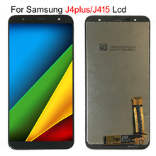 20 adet/grup Samsung lcd Galaxy J4 + J415 SM J415F J415FN dokunmatik lcd ekran ekran meclisi Samsung J4 artı J415 lcd ekran