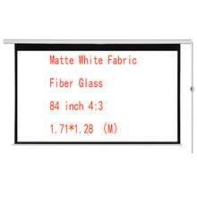 Thinyou 84 inch 4:3 Electric Screen With Remote Control Up Down Matte White Fabric Fiber Glass Curtain HD Projector