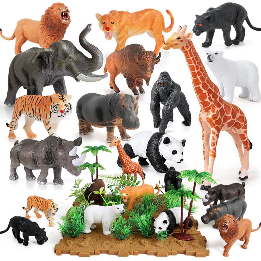 Lifelike Plastic Wild Animal Simulation Model Figures Kids Educational Toy Gift