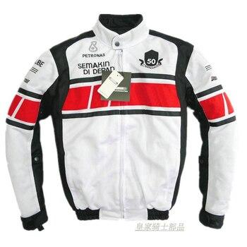 Motorcycle Motorbike Moto Jacket For Yamaha Motocross Street Moto Riding White Jackets With Protector
