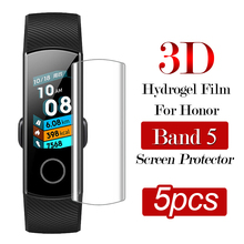 5pcs 3D Hydrogel Film on Honor Band 5 Screen Protector for Huawei Honor Band5 Full Cover Protection Anti-Scratch Bubble Free cheap Scratch Proof vidrio templado para reloj verre trempe pour montre szklo hartowane do zegarka impact resistant touch sensitive
