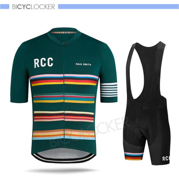 New Cycling Clothing Raphaful Rcc Jersey Set Men Short Sleeve Suit Paul Smith Team Road Bike Riding Uniform Summer Training Wear
