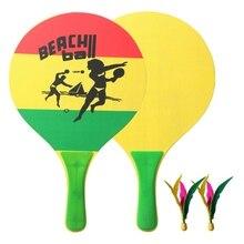 Fitness Badminton Racket Set Popular Wood Creative Cricket Tennis Fun Paddles Set
