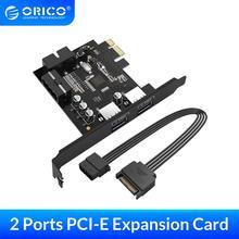 ORICO USB 3.0 PCI E Expansion Card Adapter PCI E USB 3.0 HUB Controller Adapter Card for Windows Vista PC Laptop (PVU3 2O2I)