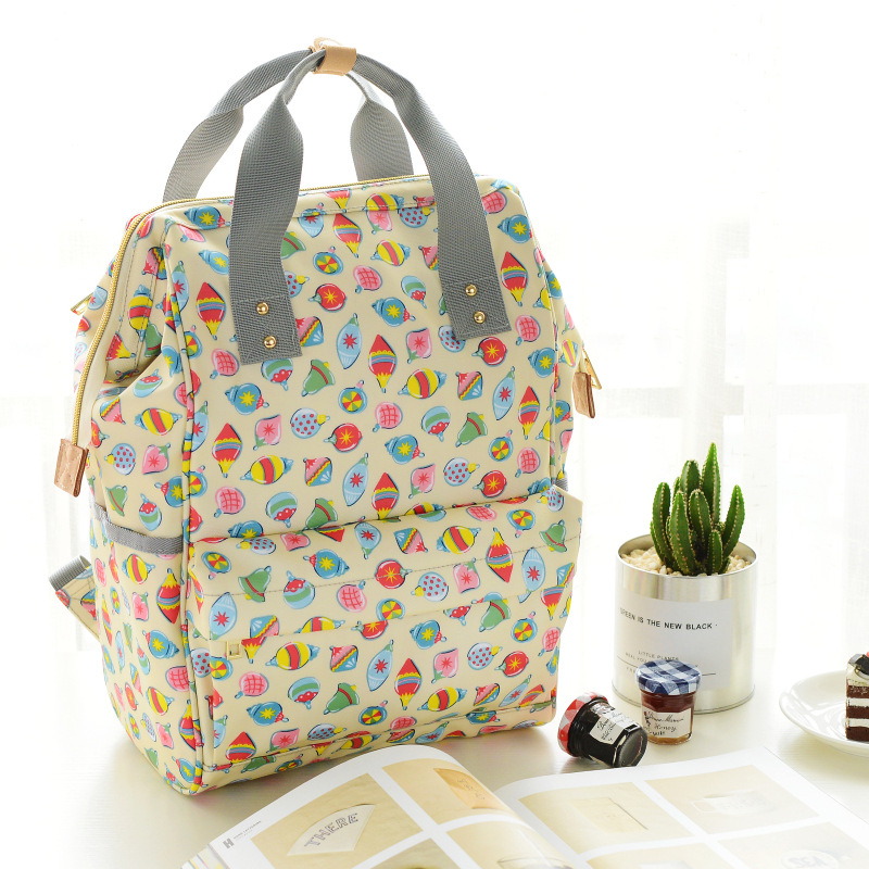 Diaper Bag INS New Style Portable MOTHER'S Bag Fashion Multi-functional Backpack Large Capacity Hand Mommy Bag