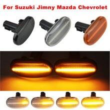 2 uds dinámica indicador lateral indicador luces de repetidor para Suzuki Jimny JB64W JB74 JB23 JB64 para Mazda para Chevrolet