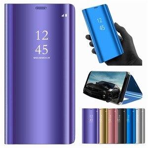Чехол для Huawei Honor 10 Lite, чехол для Huawei P Smart 2019, кожаный чехол с откидной крышкой для Honor 10 Lite, чехлы для смартфонов с зеркальным покрытием