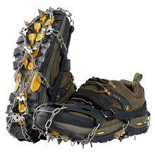 18 зубьев стальной захват для льда шипы обуви Нескользящие скалолазания