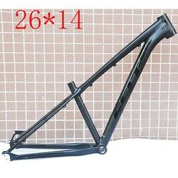 Alaşım alüminyum 26er MTB bisiklet iskeleti düz konik kulaklık 14 inç disk fren dağ bisikleti çerçeve kutu seti