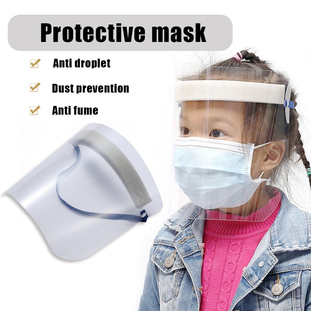 Safe Durable Kids Adults Protective Anti Splash Dust-proof Transparent Full Face Cover Mask Visor Shield  Washable
