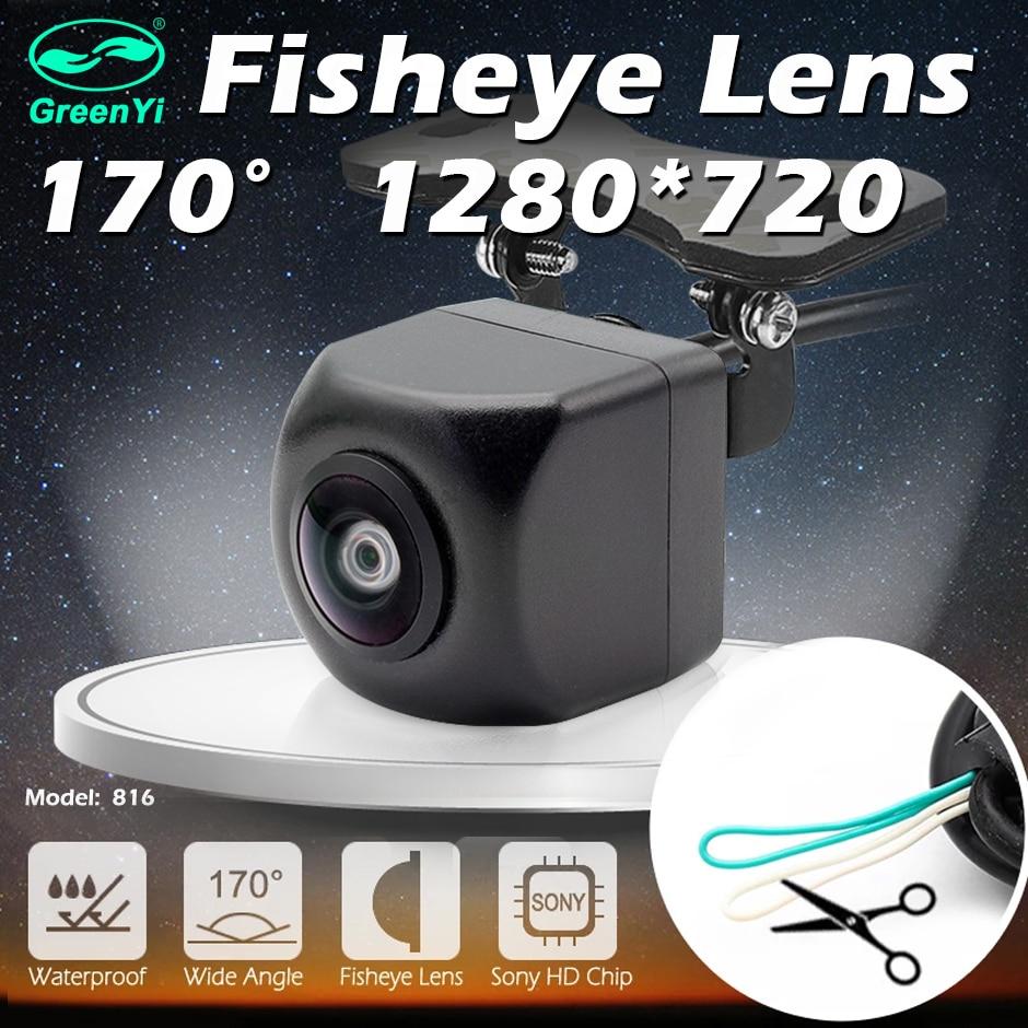 GreenYi araç arka ön yan görüş kamerası CCD balık gözü gece görüş su geçirmez IP68 araba geri geri görüş kamerası evrensel